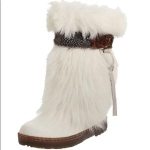 BEARPAW Kola Goat Fur Sheepskin Exotic Snow Boots